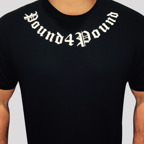 T-Shirt (black) Bowed White Text
