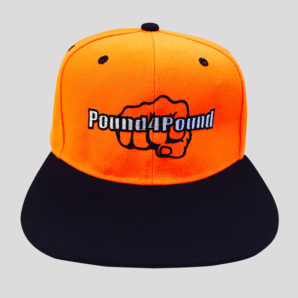 Orange and Black Hat